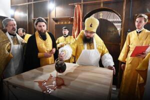 Освящение храма Московских святых 23.02.2015